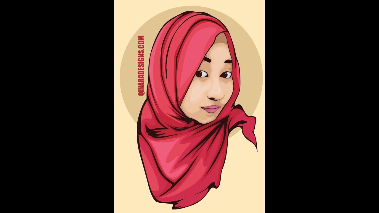 07 - Tutorial Vector Portraits Hijab - YouTube