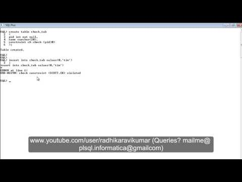 SQL: Check Constraint
