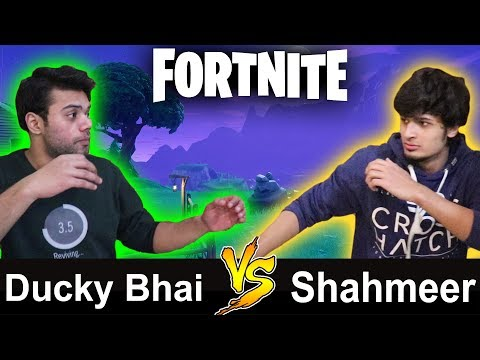 Ducky Bhai VS Shahmeer FORTNITE FIGHT | GAMEPLAY