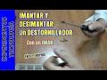 Cómo imantar/magnetizar y desimantar/desmagnetizar un destornillador
