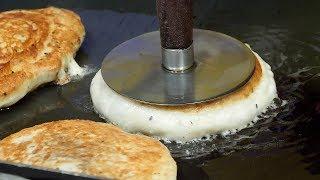 korean cheese pancake - hotteok (치즈 호떡, ホットク, 糖饼 2,500KRW) korean street food / 동대문 대짱호떡
