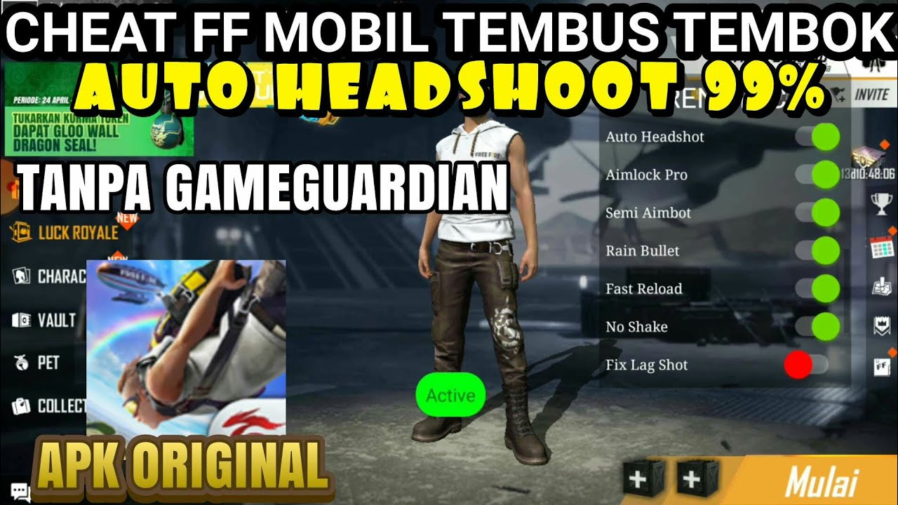 Terbaru Cara Cheat Ff Di Apk Original Tanpa Root Cheat Ff Terbaru 2020 Mod Menu Auto Headshot Youtube