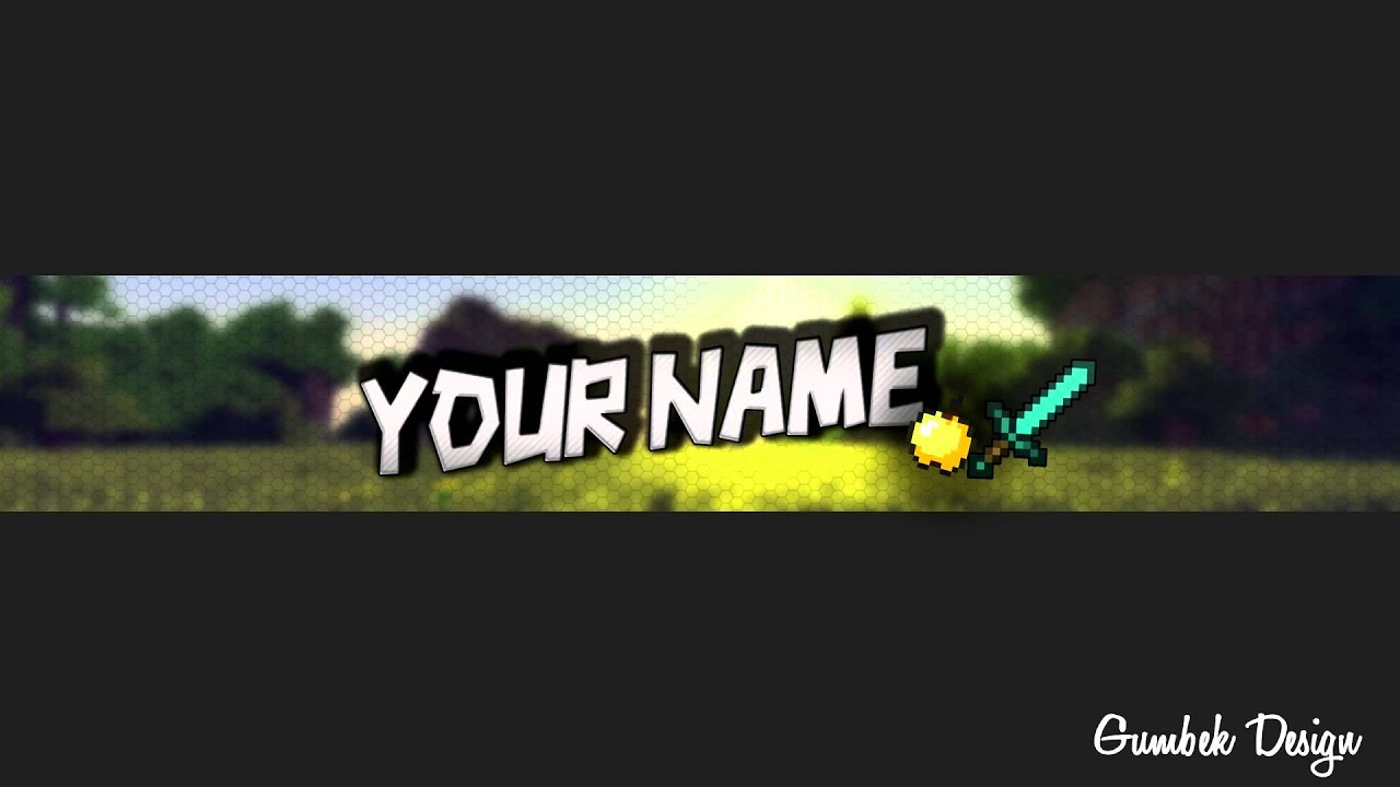 Minecraft YouTube Channel Art Template #4 - Free Photoshop Download ...