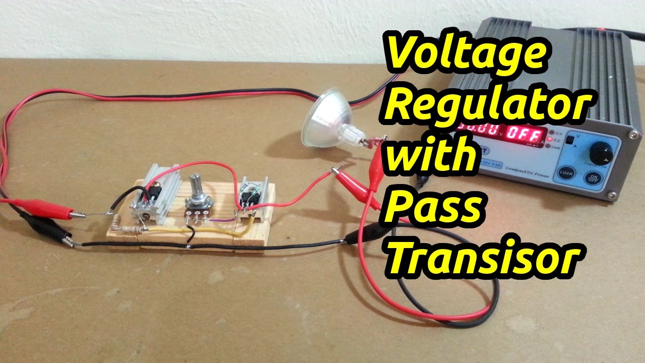 Voltage Regulator with By-pass Transistor