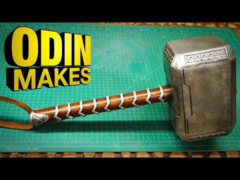 odin-makes:-thor's-hammer-from-thor:-ragnarok