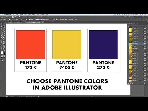 Choosing and working with Pantone numbers in Adobe Illustrator