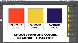 how to choose Pantone numbers in Adobe Illustrator