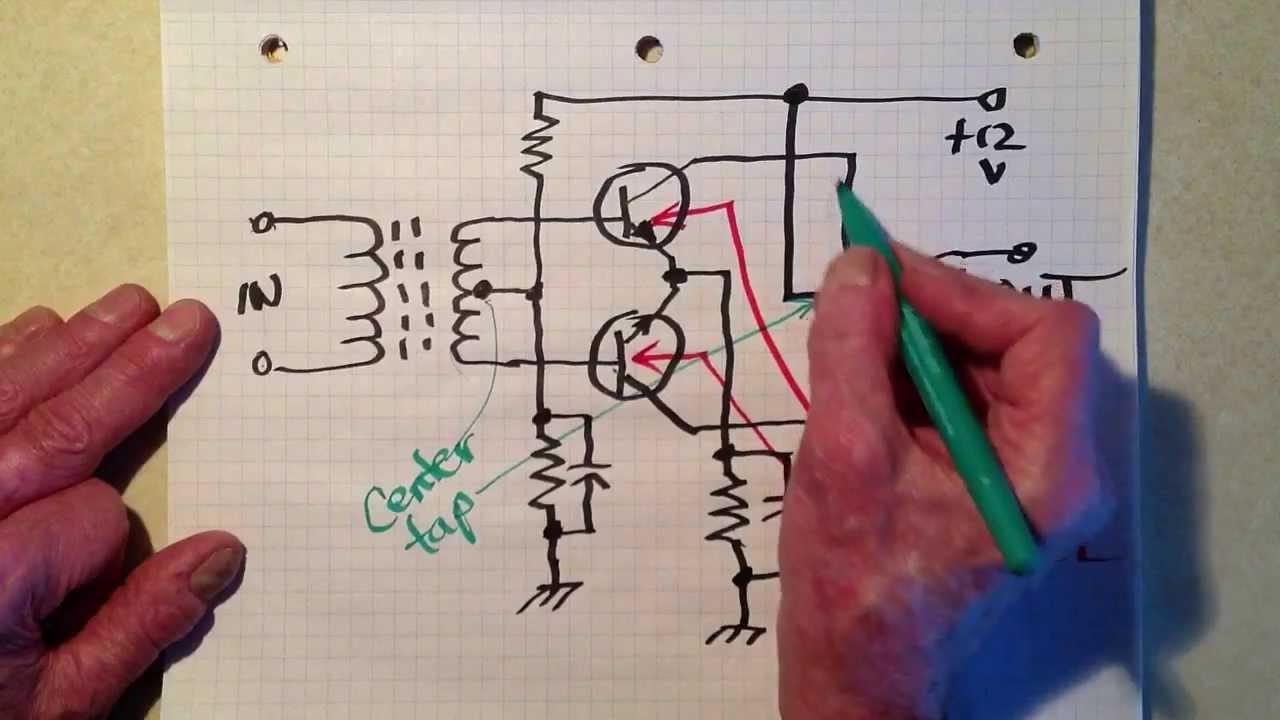 Push Pull Audio Amplifier Youtube Ab Transistor Power Circuit Diagram Electronic Circuits
