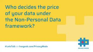 Data pricing under the Non-Personal Data framework