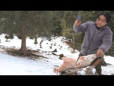【野食小哥】之一個人,半隻羊,在零下30度的雪山上煮了一大盆羊肉蝎子火鍋