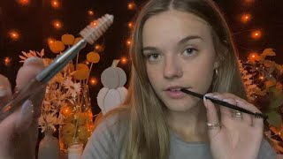 ASMR Doing Your Brows & Lashes 💙 (spoolie nibbles + overlay sounds)