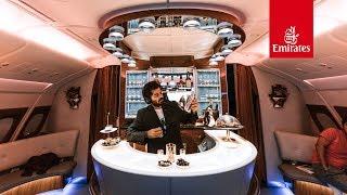 درجة الأعمال على طيران الاماراتية | أطول رحلة فالعالم
