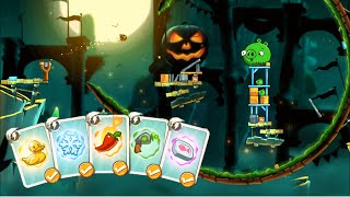 Angry Birds 2 - Halloween Arena - All Spells Demonstration HD