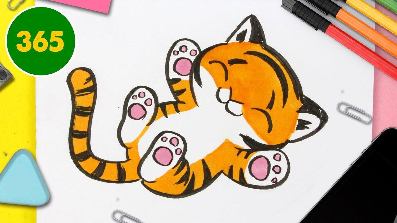 Comment Dessiner Un Tigre Kawaii Pas à Pas Comment Dessiner Des Animaux Kawaii