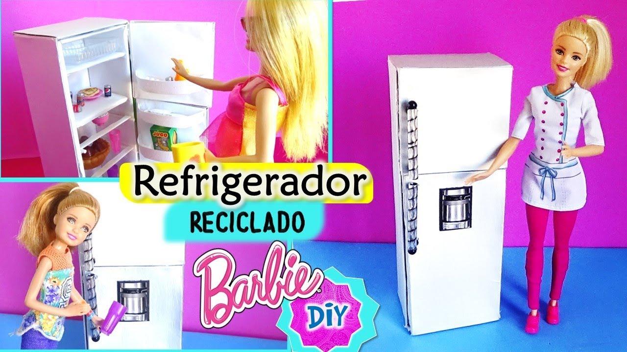 Como hacer refrigerador para mu ecas barbie reciclado manualidades para mu ecas youtube - Imagenes de muebles de carton ...