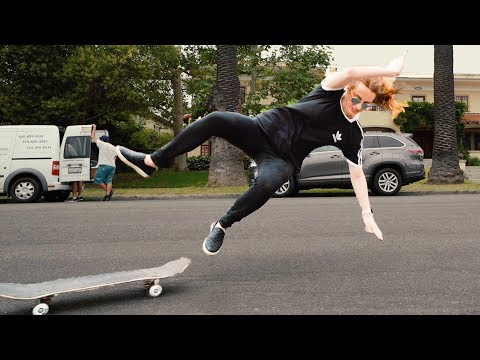 GIRL LEARNS OLLIE IN 9 MINUTES  ** Raw Footage **