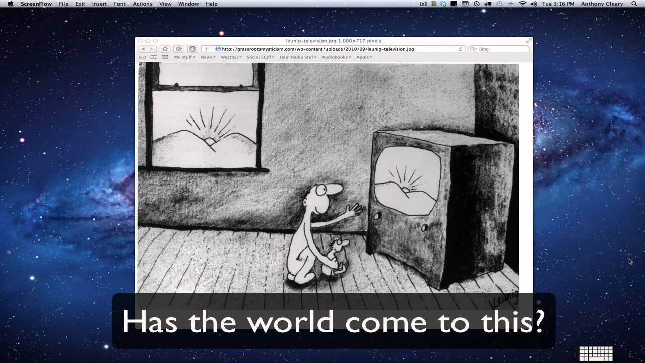 Image result for leunig cartoon of the sun on a tv screen