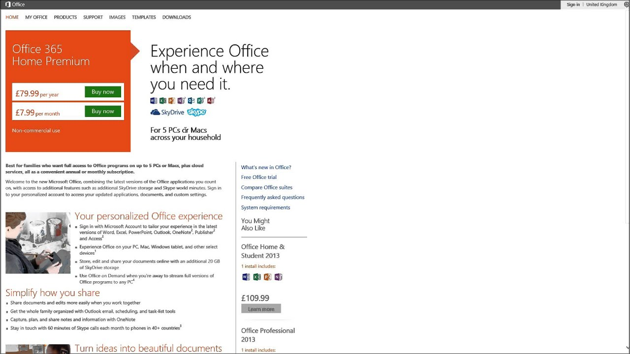 microsoft office subscription  office 365 pay monthly