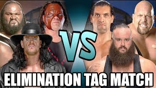 Download Video The Undertaker, Kane & Mark Henry vs Braun Strowman, Great Khali & Big Show (Elimination Tag) MP3 3GP MP4
