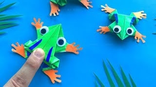Baixar Hüpfenden Origami Frosch basteln mit Papier 🐸 Lustiges DIY Geschenk - Bastelideen