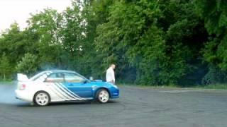 Subaru Impreza Sitaniec Zamość part2 drift wokol kuby:]
