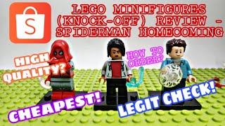 LEGO MINIFIGURES KNOCK-OFF SHOPEE HAUL (SPIDERMAN HOMECOMING) | XINH,DECOOL,S.Y | ARKEYEL CHANNEL