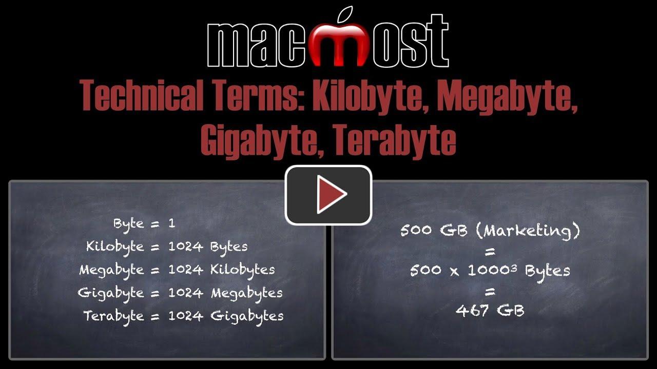 Technical Terms: Kilobyte, Megabyte, Gigabyte, Terabyte (#1730)