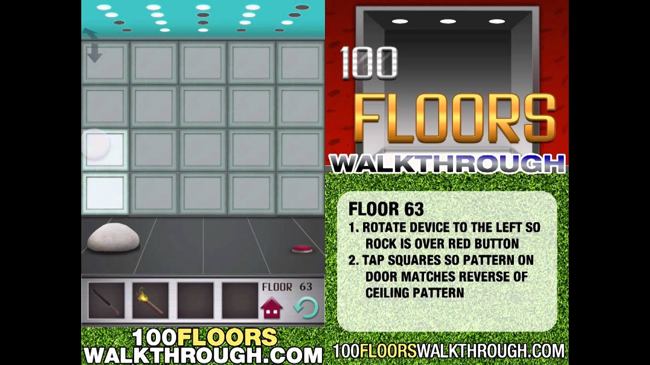 100 Floors Floor 61 Walkthrough