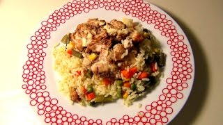 Курица по-Филлипински с Рисом и Овощами