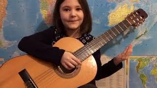 Музыкальные занятия для малышей на гитаре. Урок N3