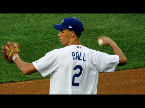 Lonzo Ball Warm-ups for Dodgers 1st Pitch Now