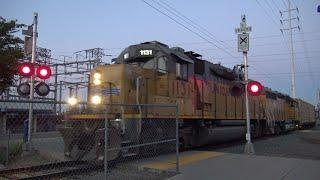 UP 1131 LRR45 Folsom Local Back To Main, Power Inn Station West Ped. Railroad Crossing Sacramento CA