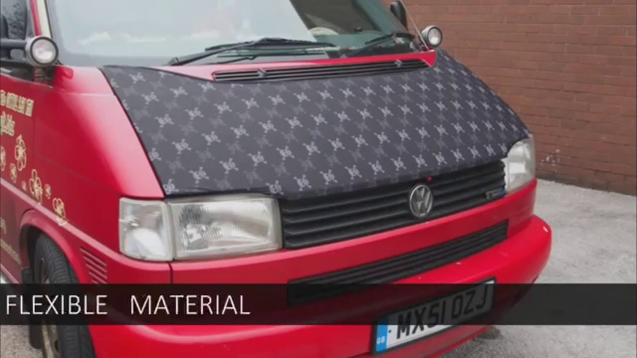 VW T4 TRANSPORTER BONNET BRA - SKULLS DESIGN MADE BY VAN-X - YouTube