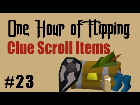 [OSRS] How I Made 1M in 1 Hour of Flipping Clue Scroll Items Only!  [Episode #23]