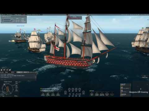 썬구루] 네이벌 액션 (Naval Action) : 클랜 멤버들과 Rear Admiral 함대 미션 - 2017.2.3