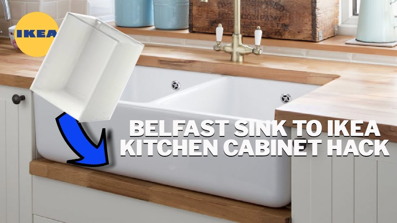 how to fit a belfast sink on an ikea kitchen cabinet youtube. Black Bedroom Furniture Sets. Home Design Ideas