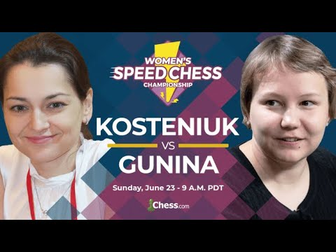 Le Choc Du Speed Chess Feminin - Kosteniuk Contre Gunina Commenté Par Blitzstream