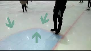 УРОКИ ПО ФИГУРНОМУ КАТАНИЮ №2. Движение спиной вперед, фонарики, дуги (Ice skating tutorial №2)