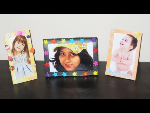 How to make cute picture frames with packing trays - simplekidscrafts