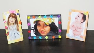 How To Make Cute Picture Frames With Packing Trays  - Recycling - Ep