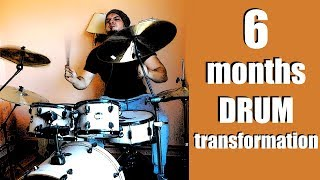 Zapętlaj Recording myself playing Drums every week for 6 months from day 1   Zimorog Band