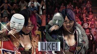 WWE 2K19 vs WWE 2K18 –All Women Entrances Comparison #WWE2K19
