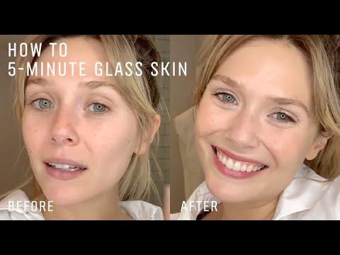 Elizabeth Olsen's 5-Minute Easy Radiant Skin Routine