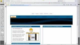 Fireworks CS4 CS5 Active Web Site layouts Tutorial - Custom Menus 1 Slice Hotspot