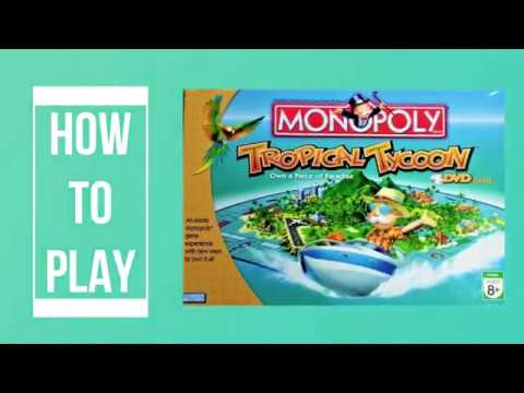 How To Play Monopoly Tropical Tycoon DVD Board Game (Hasbro 2007)