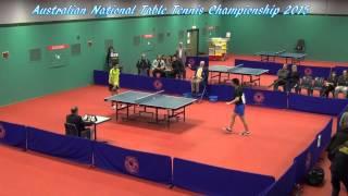 table tennis australian national championship u21 m final heming h vs dillon c