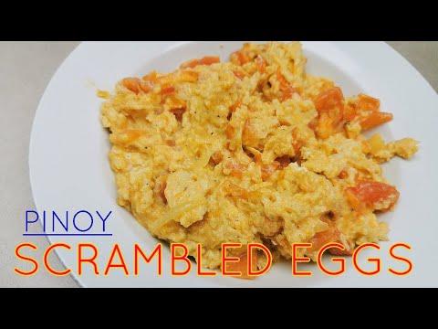 Pinoy Scrambled Eggs (Sarciadong Itlog)