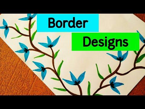 Project File Border Design Ideas | Border designs on paper | Project Design | Border Design | Frames