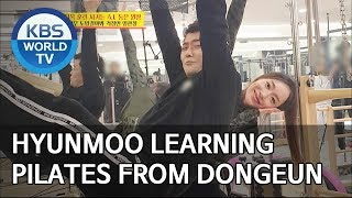 Hyunmoo learning pilates from Dongeun [Boss in the Mirror/ENG/2019.12.29]