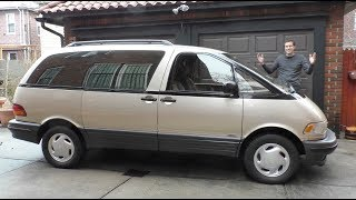 GO READ MY COLUMN! http://autotradr.co/Oversteer https://www.autotrader.com/research/article/car-video/275411/video-the-toyota-previa-is-the-weirdest-minivan-ever.jsp  The Toyota Previa is a minivan -- but it's not just any minivan. It's a really weird minivan. Today I'm reviewing a Toyota Previa to show you why the Previa is the weirdest minivan ever.  FOLLOW ME! Facebook - http://www.facebook.com/ddemuro Twitter - http://www.twitter.com/dougdemuro Instagram - http://www.instagram.com/dougdemuro  DOUGSCORE CHART: https://docs.google.com/spreadsheets/d/1KTArYwDWrn52fnc7B12KvjRb6nmcEaU6gXYehWfsZSo